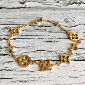 Louis Vuitton bracelet blossom flower non tarnish